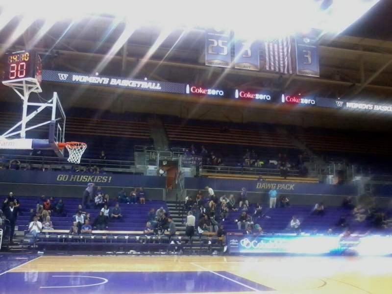 Seating view for Alaska Airlines Arena at Hec Edmundson Pavilion Section 9