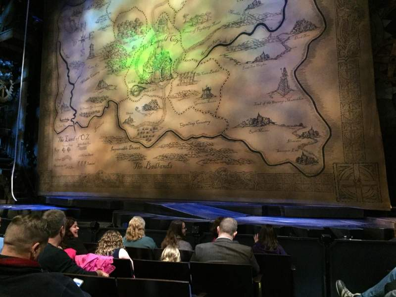 Seating view for Gershwin Theatre Section Orchestra R Row B Seat 2