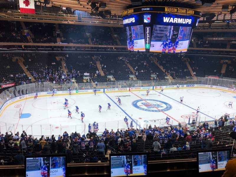 Seating view for Madison Square Garden Section 209 Row 3 Seat 9