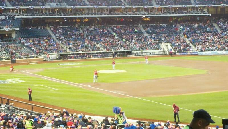 Seating view for Citi Field Section 108 Row 32 Seat 1