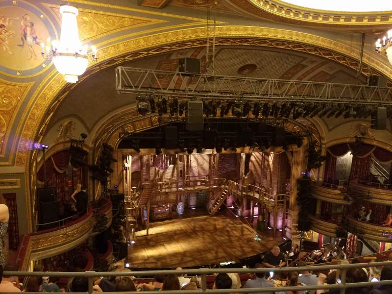 Seating view for Richard Rodgers Theatre Section left rear mezz Row b Seat 19