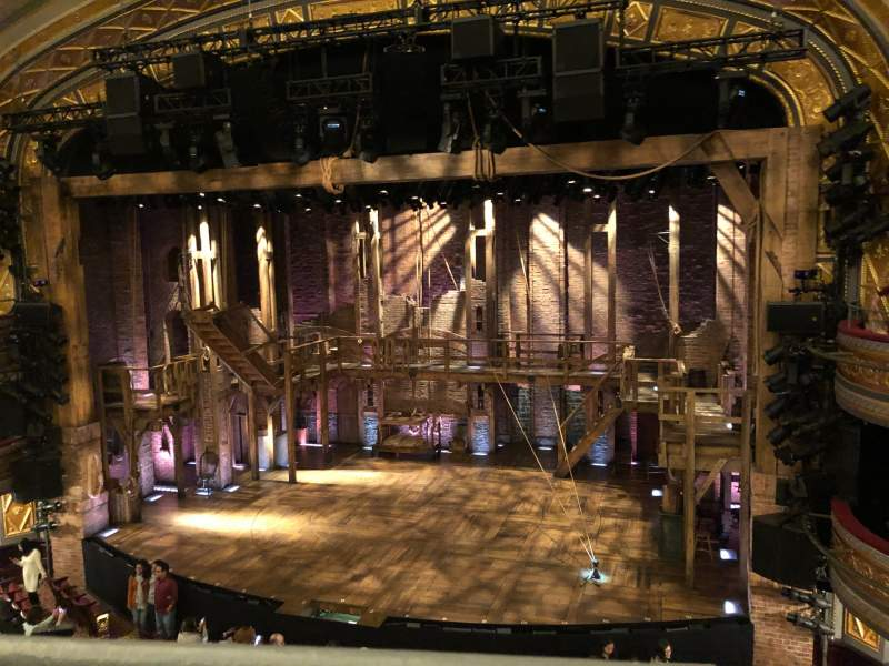 Seating view for Richard Rodgers Theatre Section Front Mezzanine R Row A Seat 4