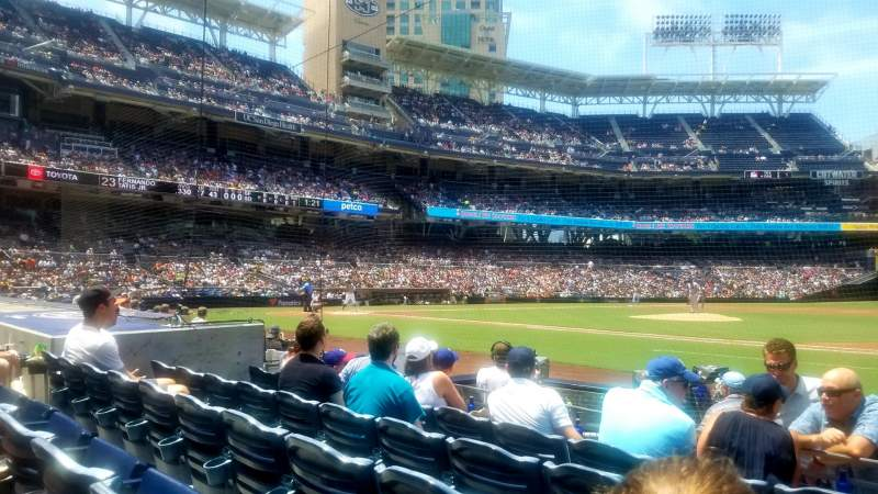 Seating view for PETCO Park Section 109 Row 9 Seat 16