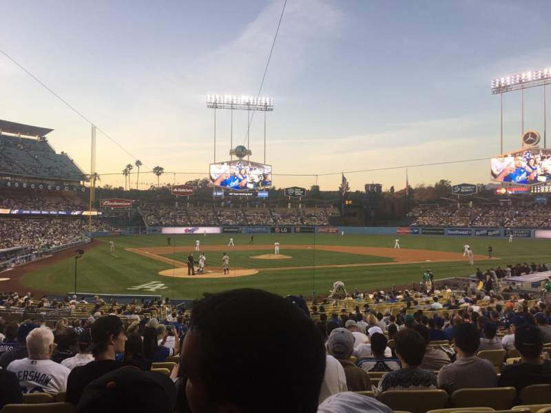 Seating view for Dodger Stadium Section 6FD Row U Seat 8