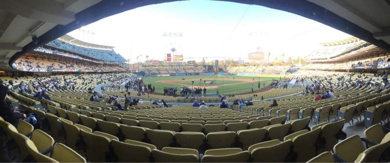 Dodger Stadium, section: 2FD, row: V, seat: 9