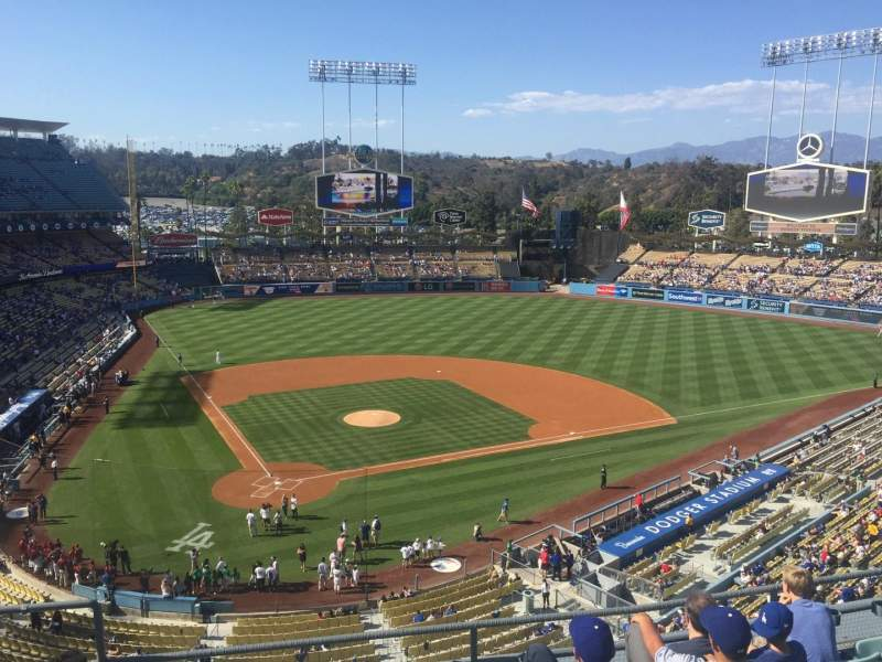 Seating view for Dodger Stadium Section 6RS Row F Seat 3