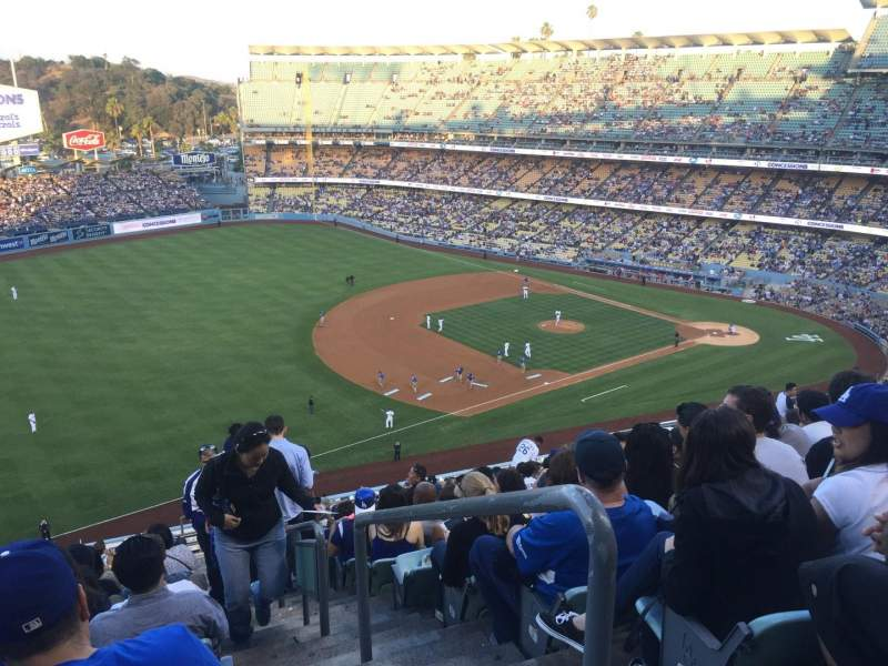 Seating view for Dodger Stadium Section 35RS Row U Seat 1