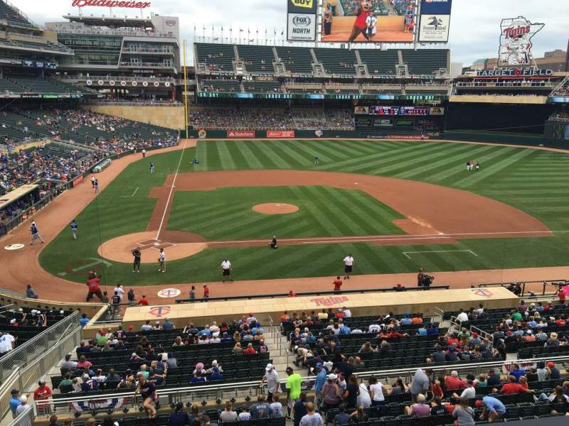 Seating view for Target Field Section D Row 2 Seat 13