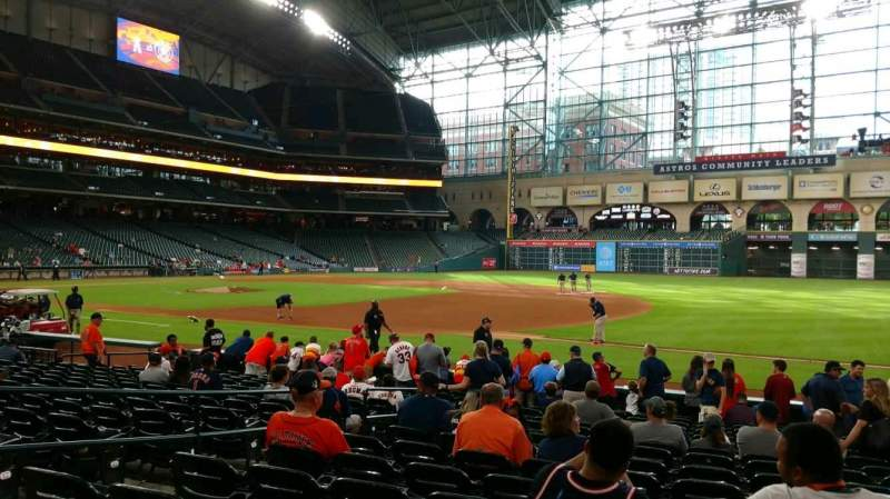 Seating view for Minute Maid Park Section 128 Row 16 Seat 6