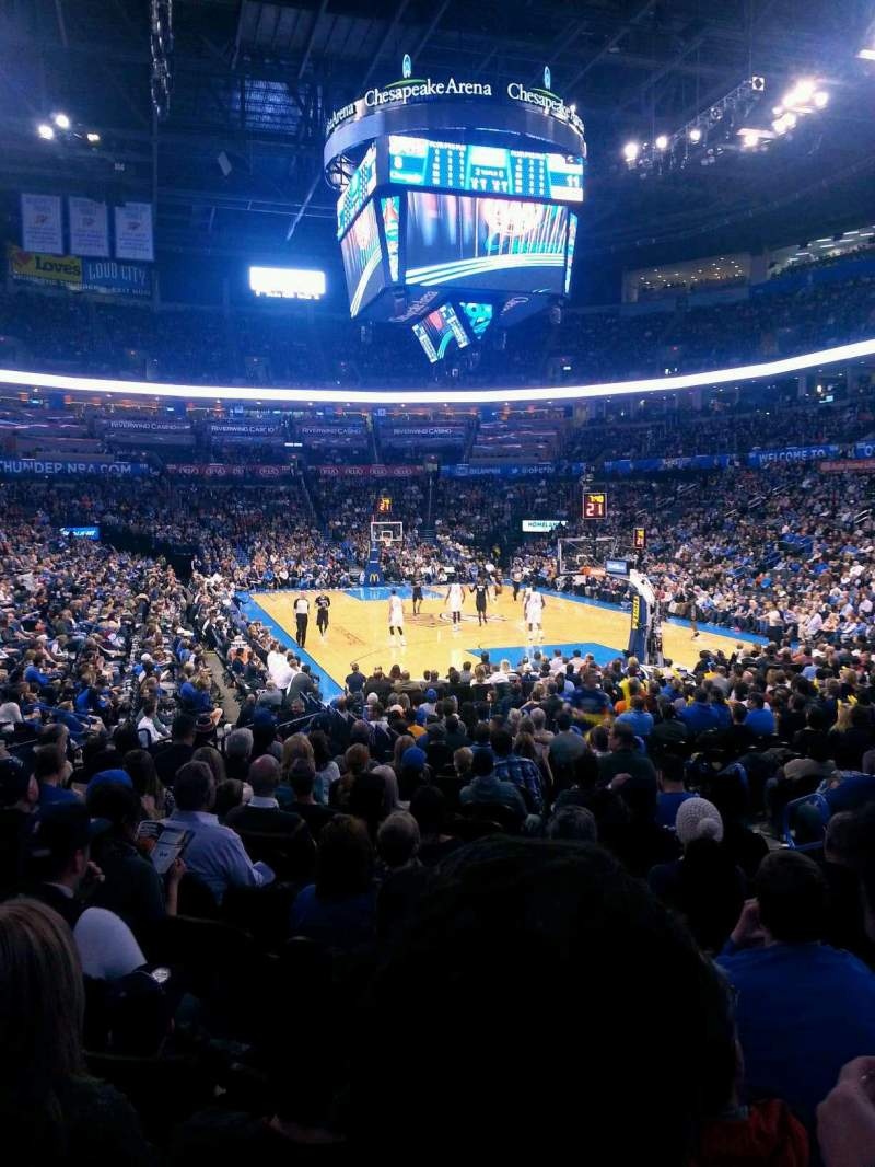 Seating view for Chesapeake Energy Arena Section 112 Row M Seat 4