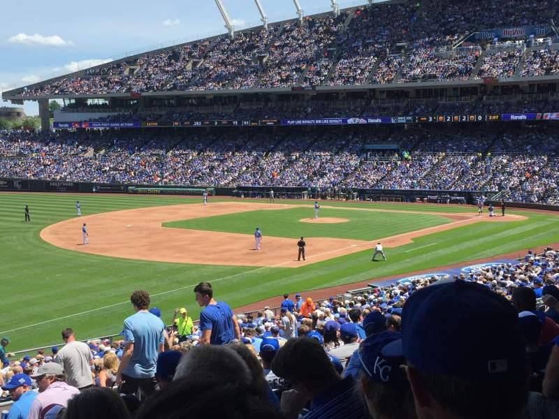 Kauffman Stadium, section: 219, row: LL, seat: 12