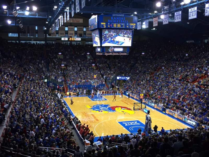 Seating view for Allen Fieldhouse Section 13 Row 20 Seat 9
