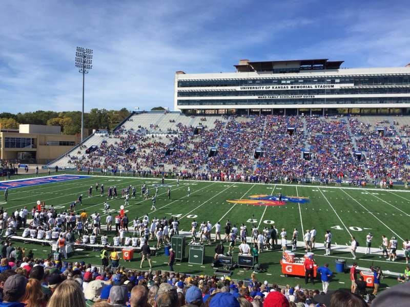 Seating view for University of Kansas Memorial Stadium Section 21 Row 25 Seat 12