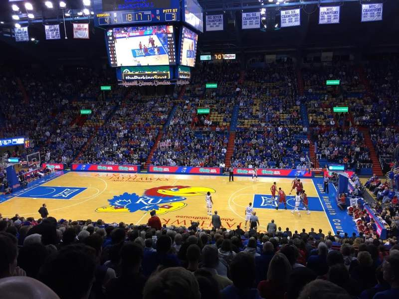 Seating view for Allen Fieldhouse Section 16 Row 18 Seat 10