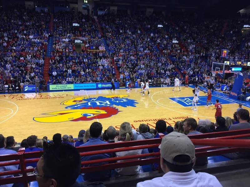 Seating view for Allen Fieldhouse Section 6 Row 4 Seat 12