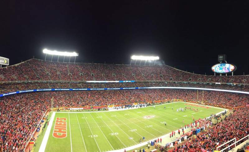 Seating view for Arrowhead Stadium Section 328 Row 5 Seat 12