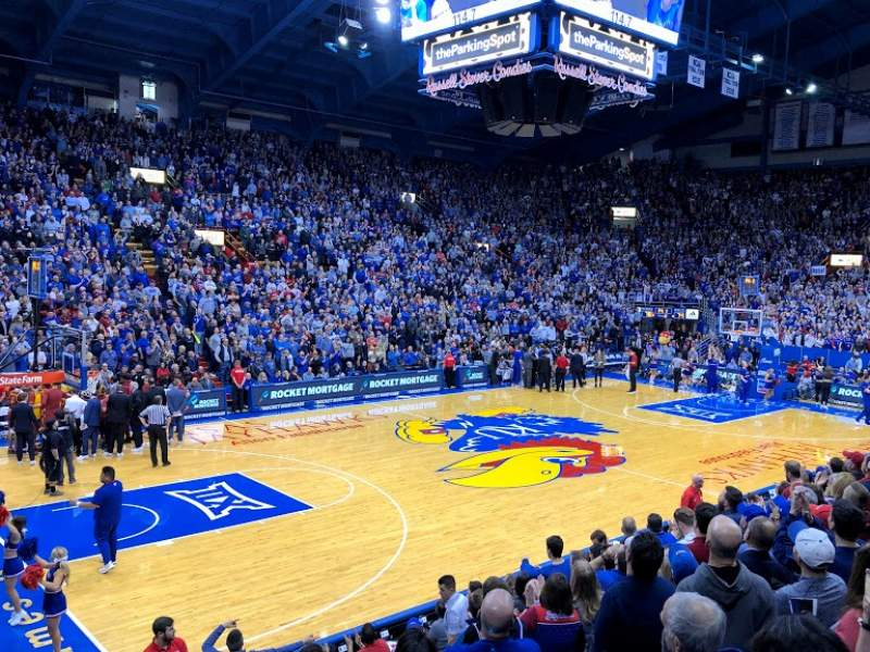 Seating view for Allen Fieldhouse Section J Row 11 Seat 7