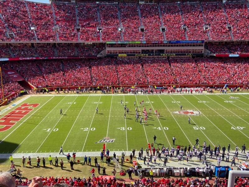 Seating view for Arrowhead Stadium Section 303 Row 3 Seat 2
