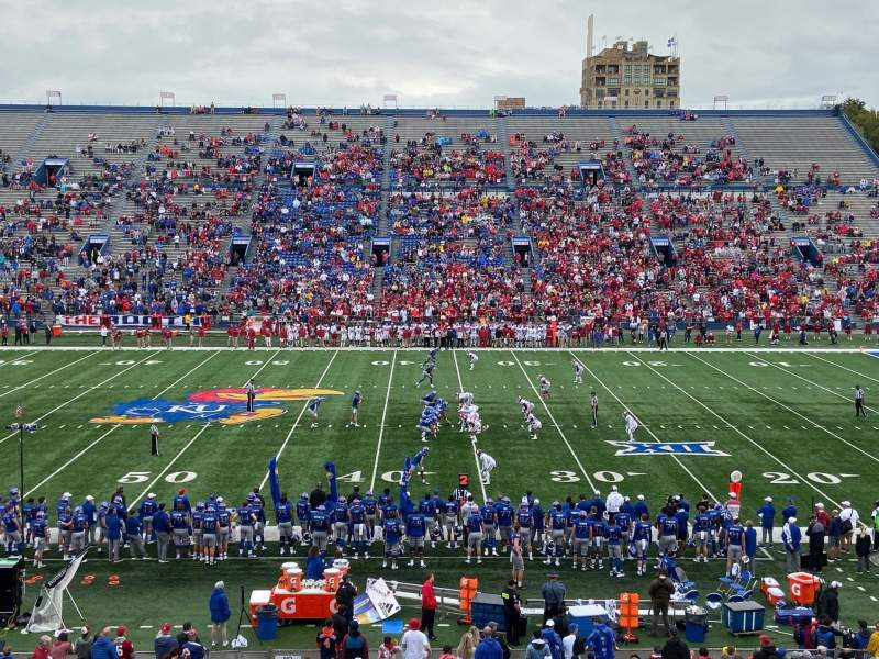 Seating view for David Booth Kansas Memorial Stadium Section 5 Row 37 Seat 21