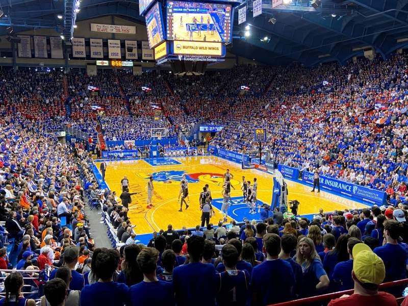 Seating view for Allen Fieldhouse Section 13 Row 5 Seat 2