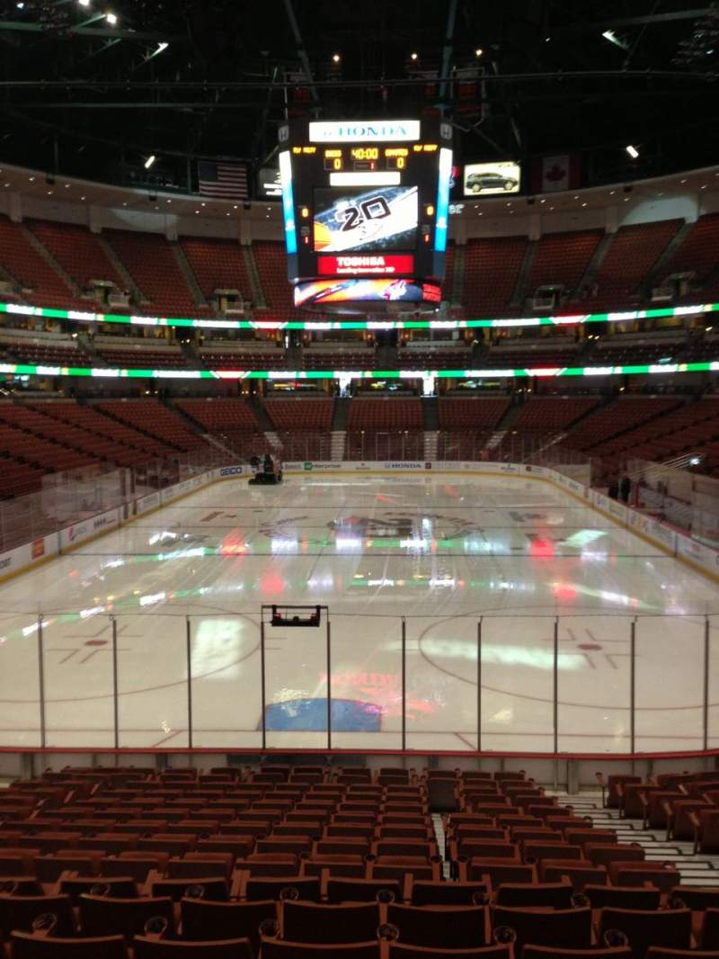 Seating view for Honda Center Section 215 Row A Seat 4