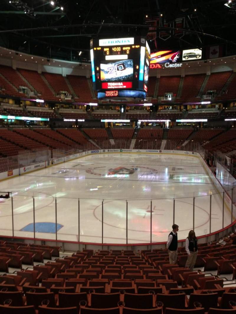 Seating view for Honda Center Section 214 Row S Seat 7