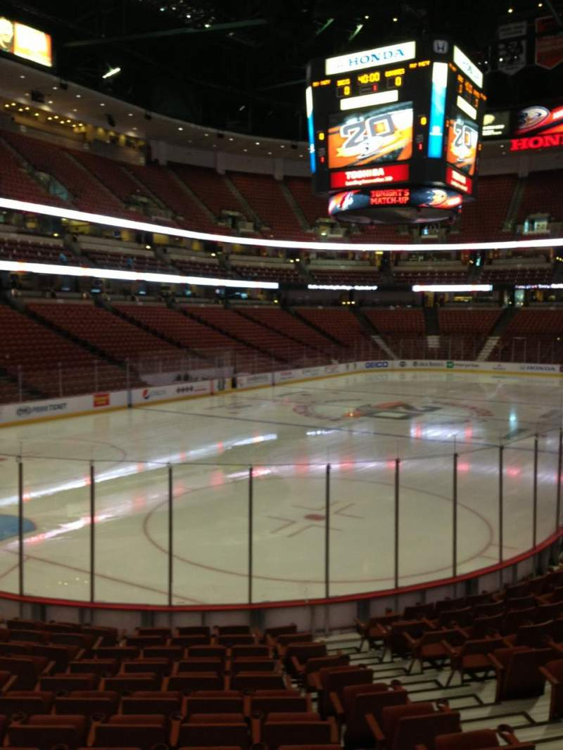 Seating view for Honda Center Section 213 Row N Seat 6