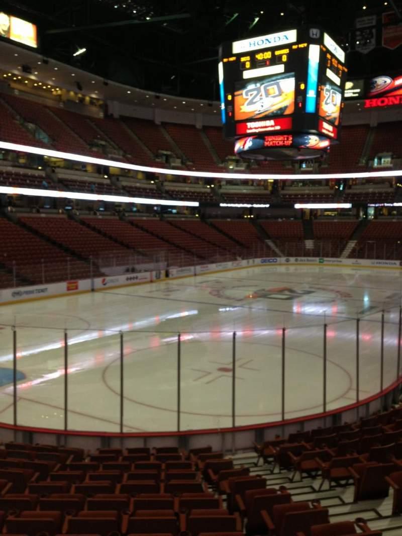 Honda Center, section: 213, row: N, seat: 6
