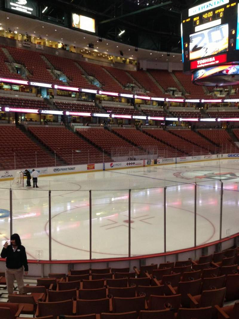 Seating view for Honda Center Section 212 Row L Seat 7