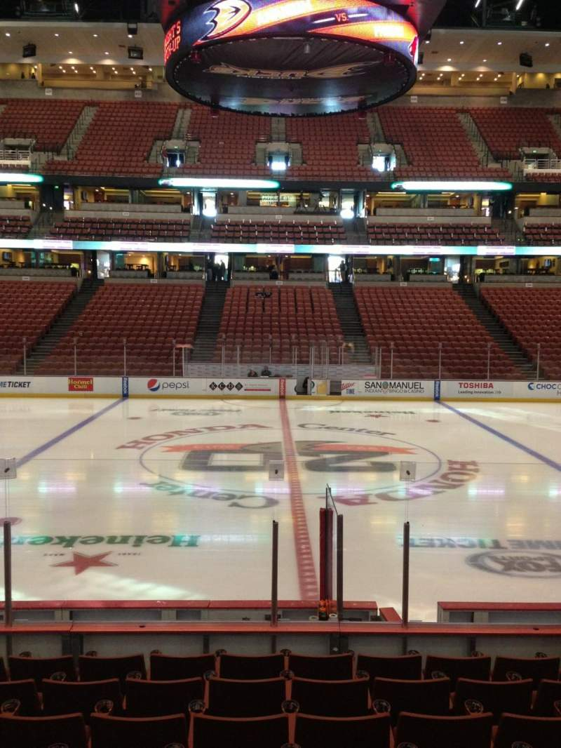 Seating view for Honda Center Section 208 Row K Seat 9