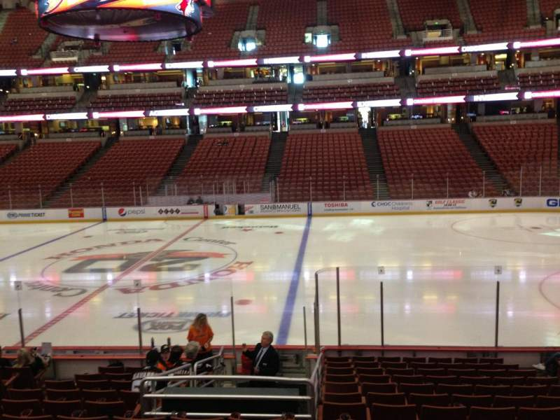 Seating view for Honda Center Section 207 Row P Seat 7