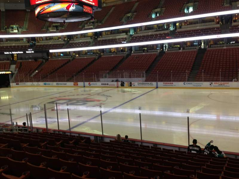 Seating view for Honda Center Section 206 Row 6 Seat 4