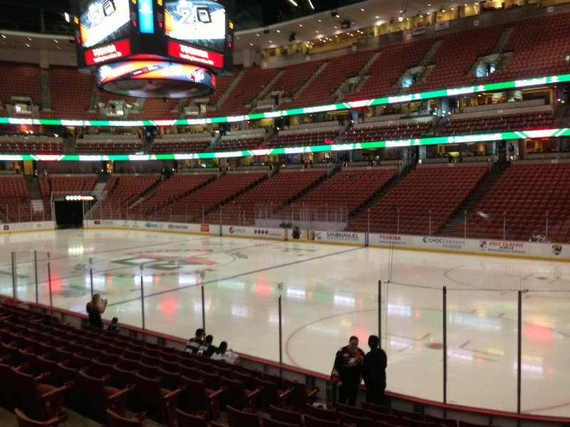 Seating view for Honda Center Section 205 Row M Seat 3