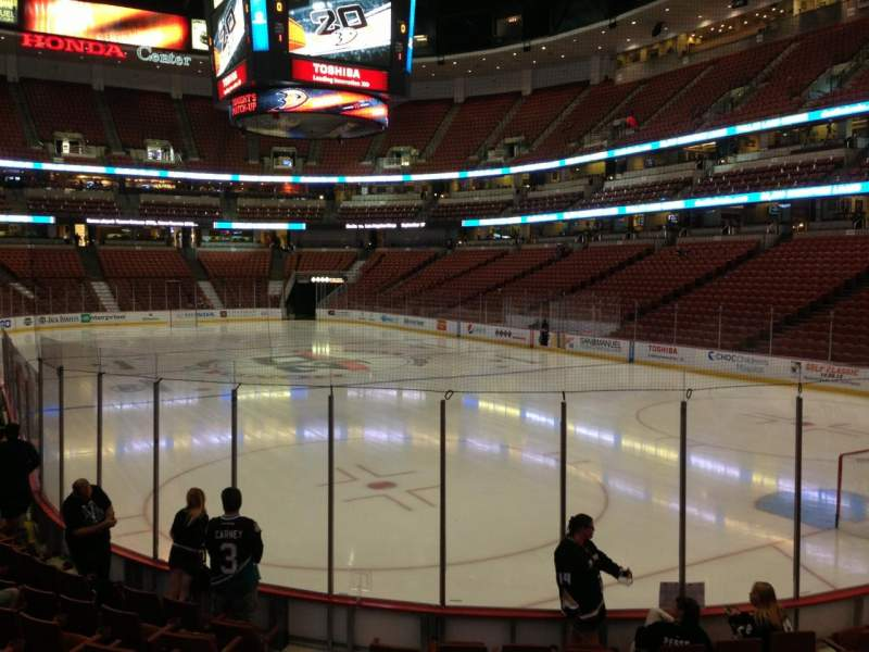Seating view for Honda Center Section 203 Row K Seat 6