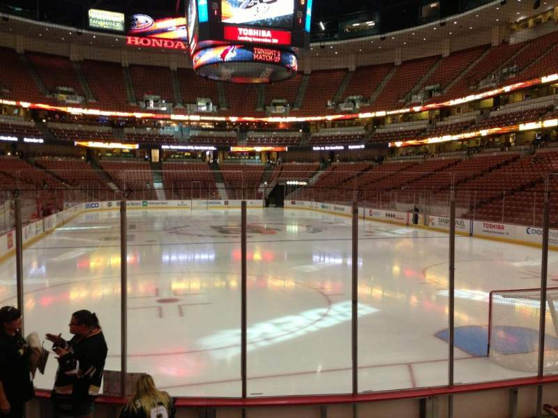 Seating view for Honda Center Section 202 Row G Seat 5