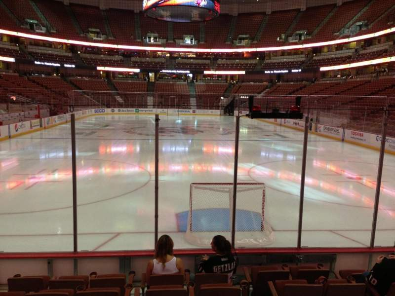 Seating view for Honda Center Section 201 Row G Seat 11