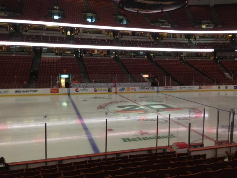 Seating view for Honda Center Section 223 Row L Seat 10