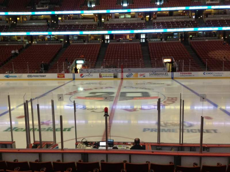 Seating view for Honda Center Section 222 Row J Seat 5