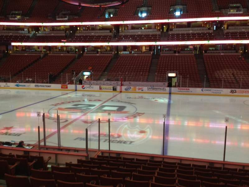 Seating view for Honda Center Section 221 Row M Seat 9