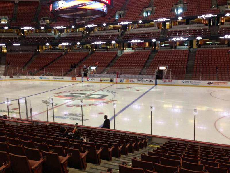 Seating view for Honda Center Section 220 Row Q Seat 12