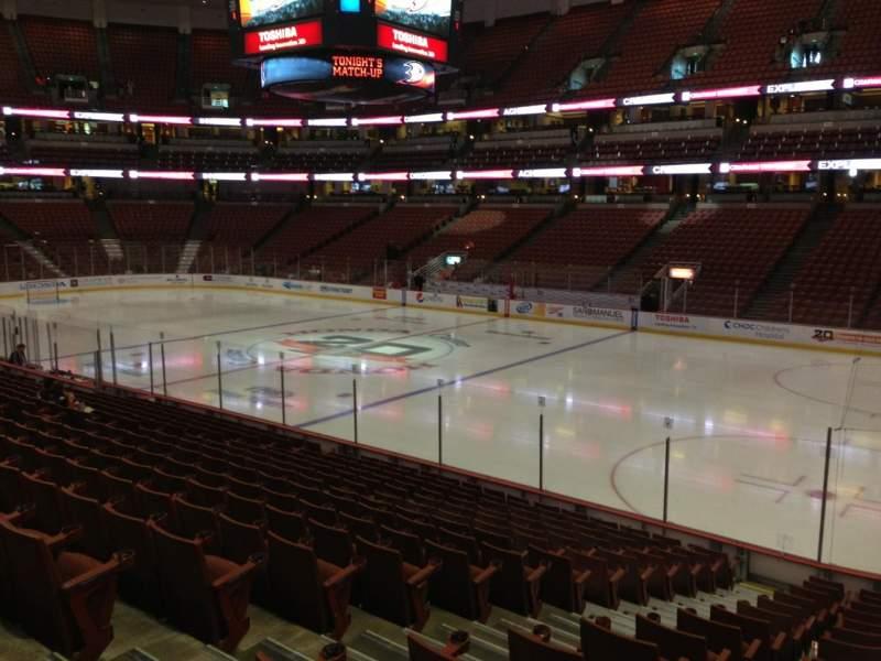 Honda Center, section: 219, row: R, seat: 10