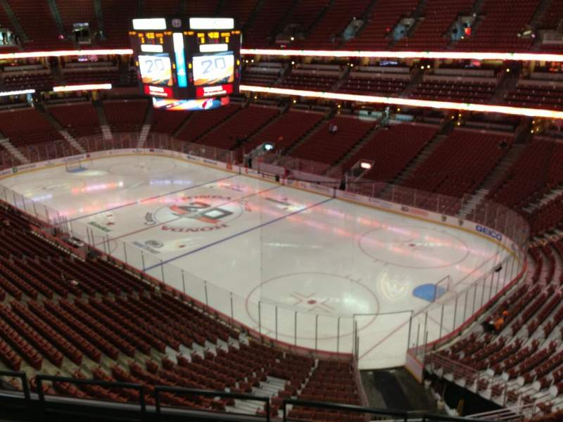 Seating view for Honda Center Section 428 Row E Seat 3