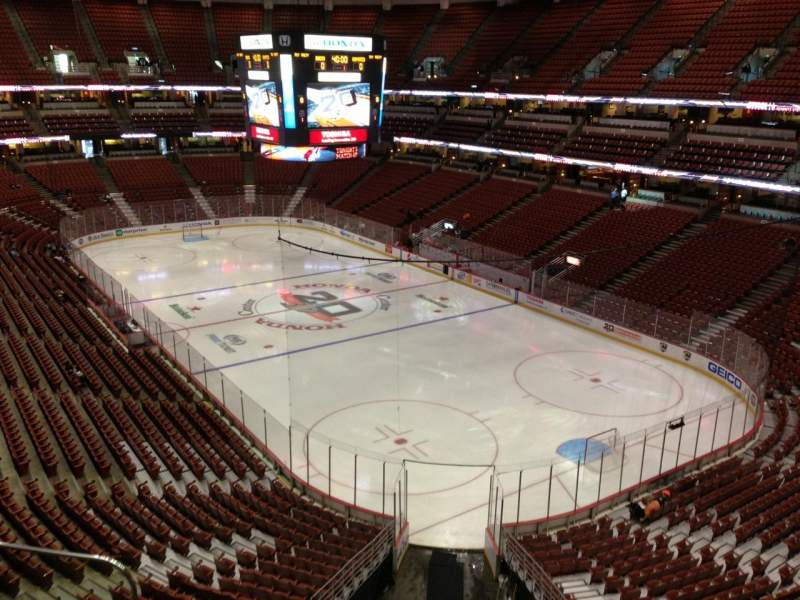 Seating view for Honda Center Section 427 Row C Seat 14