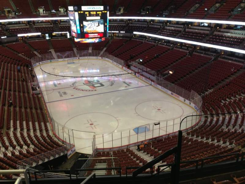 Seating view for Honda Center Section 425 Row F Seat 1