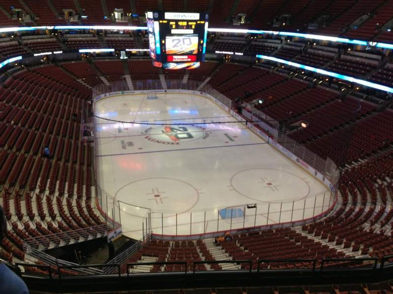 Seating view for Honda Center Section 424 Row G Seat H