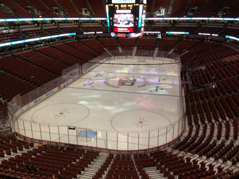 Seating view for Honda Center Section 421 Row A Seat 8
