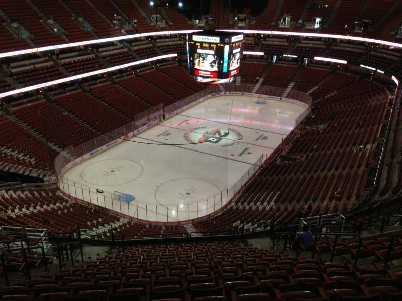 Seating view for Honda Center Section 419 Row T Seat 9