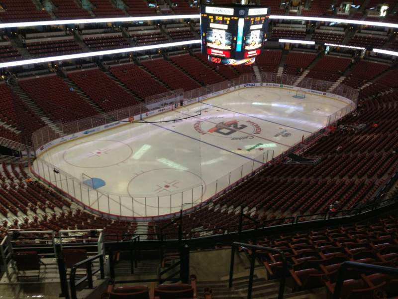 Seating view for Honda Center Section 418 Row L Seat 2