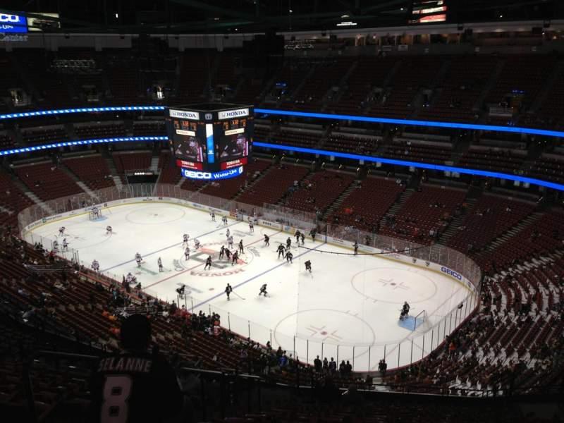 Honda Center Section 406 Row S Seat 11 Anaheim Ducks Vs