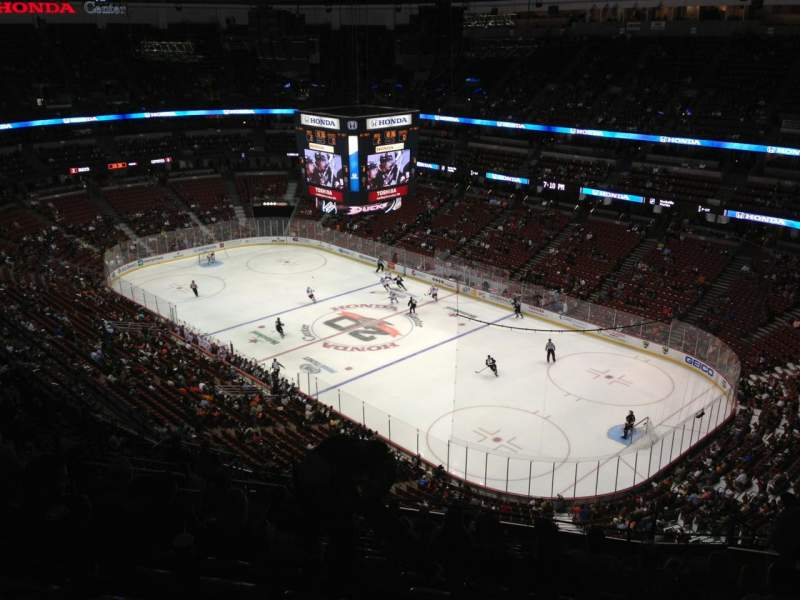 Seating view for Honda Center Section 406 Row S Seat 12